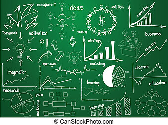 elemente, grafik, und, diagramme