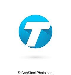 elemente, schablone, t, logo, ikone, brief, design