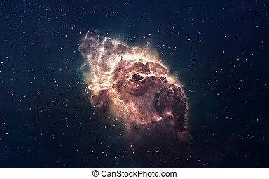 elemente, universe., möbliert, dieser, bild, nebelfleck,...