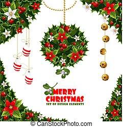 elemente, weihnachten, design