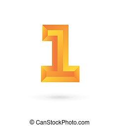 elemente, zählen, 1, design, schablone, logo, ikone