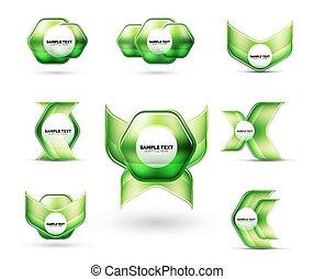 elementer, din, firma, skinnende, abstrakt, metallisk, forme, glas, techno, blanke, meddelelse, præsentation, eller