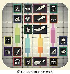 elementi, 20, grafico, simboli, infographic, includere, fondo, arte