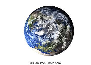 elementi, ammobiliato, isolated., cima, sistema, nasa., lato, pianeta, questo, solare, terra, immagine