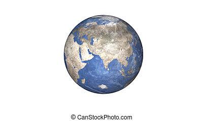 elementi, ammobiliato, isolated., immagine, sistema, nasa., pianeta, questo, solare, terra