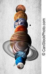elementi, ammobiliato, questo, immagine, sistema, alto, nasa, planets., solare, qualità