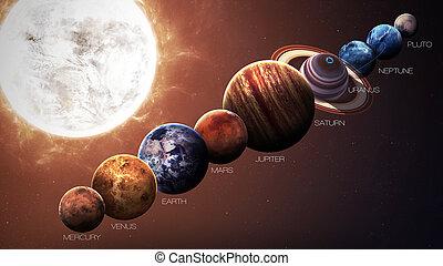 elementi, ammobiliato, questo, immagine, sistema, isolato, nasa, planets., solare, hight, qualità