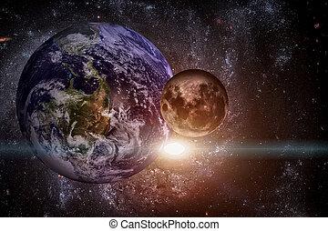 elementi, ammobiliato, questo, immagine, -, sistema, nasa., pianeta, solare, earth.