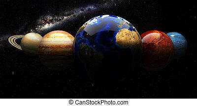 elementi, ammobiliato, questo, immagine, spazio, sistema, nasa, solare, objects.