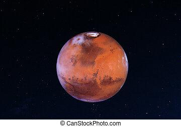 elementi, ammobiliato, system., immagine, nasa., pianeta, questo, solare, marte