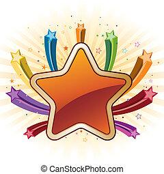 elementi, colorito, stelle