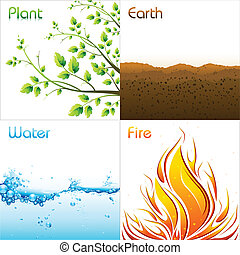 elementi, di, terra