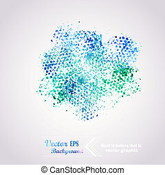 elementi, disegnato, illustrazione, astratto, fondo, mano, acquarello, paper., colori, acquarellature, bagnato, album, macchia, composizione