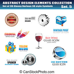 elementi, disegno, collezione