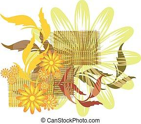 elementi floreali, disegno, tuo