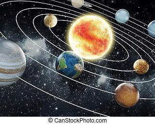 elementi, illustration., ammobiliato, questo, immagine, sistema, nasa., solare