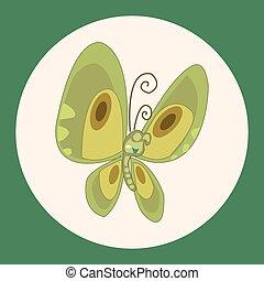 elementi, insetto, cartone animato