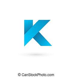 elementi, lettera k, disegno, sagoma, logotipo, icona