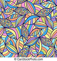 elementi, modello, colorito, astratto, seamless