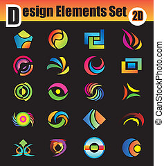 elementi, progetto serie, astratto