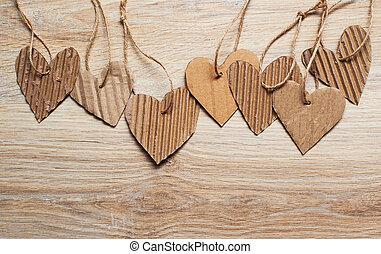 elementi,  scrapbooking, testo, valentina, carta, posto, cuori, giorno