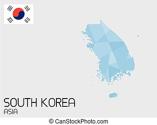 elementi, set, corea, paese, infographic, sud