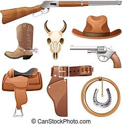 elementi, set, cowboy
