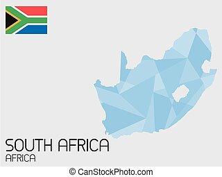 elementi, set, paese, africa, infographic, sud