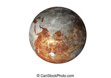elementi, urente, ammobiliato, isolated., immagine, sistema, nasa., pianeta, questo, solare, terra
