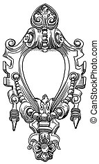 elemento decorativo, de, a, fachada, de, um, edifício histórico, em, lviv, (ukraine)