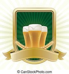 elemento del diseño, para, cerveza