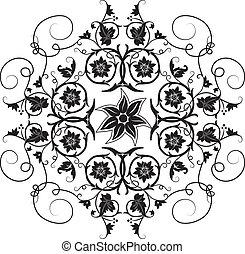 elemento, per, disegno, fiore