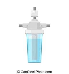 elemento, vetorial, purificação, ilustração, sistema, água