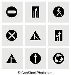 elemento, vettore, set, strada, icona