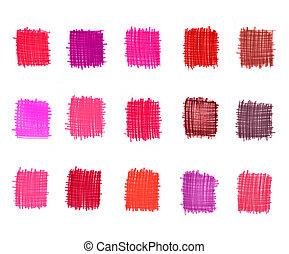 elementos, abstratos, jogo, graduação, cor-de-rosa