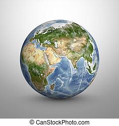 elementos, amueblado, esto, imagen, planeta, nasa, model., ...