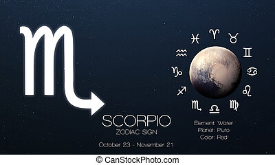 elementos, amueblado, esto, imagen, scorpio., -, señal,...
