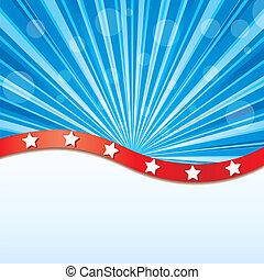 elementos, bandera de los e.e.u.u, ilustración, vector, ...