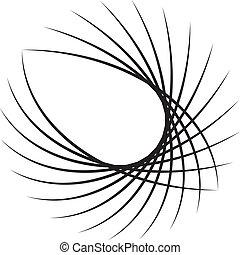 elementos, baseado, abstratos, decorativ, círculo, arco