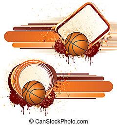elementos, basquetebol, desenho