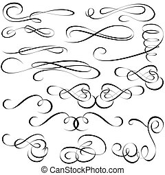 elementos, calligraphic