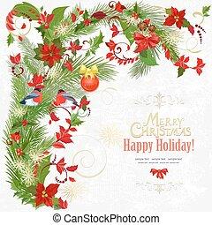 elementos, coloridos, m, convite, floral, seu, cartão, design.