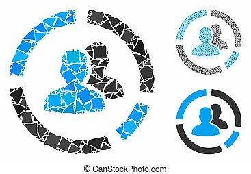 elementos, composición, demography, trembly, diagrama, icono