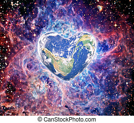 elementos, Coração, fornecido, este, imagem, FORMA,  nasa, terra
