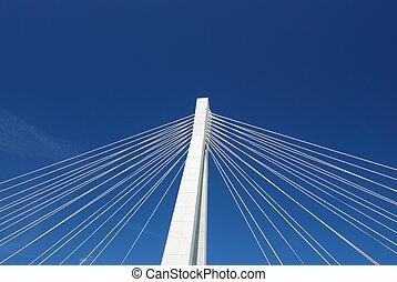 elementos, de, el, carretera, puente