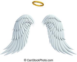 elementos, desenho, anjo