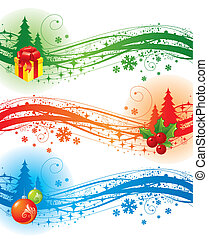 elementos, desenho, natal