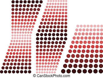 elementos, desenho, vermelho