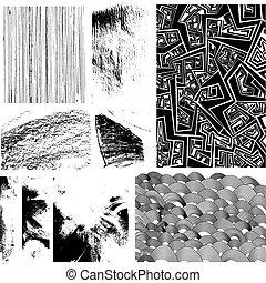 elementos, diseño, colección