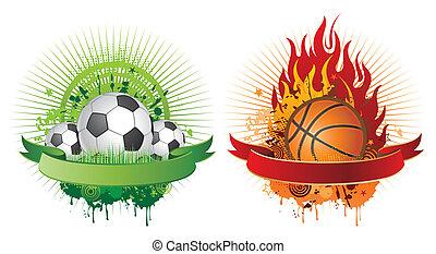 elementos, diseño, deportes
